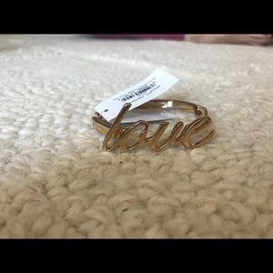 NWT Kate Spade Love bracelet